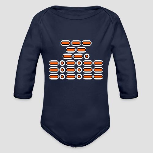 OMG!!! (orange/black/white) - Organic Longsleeve Baby Bodysuit