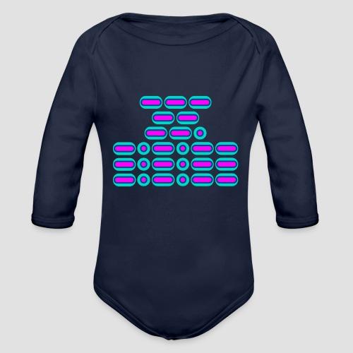 OMG!!! (pink/blue) - Organic Longsleeve Baby Bodysuit