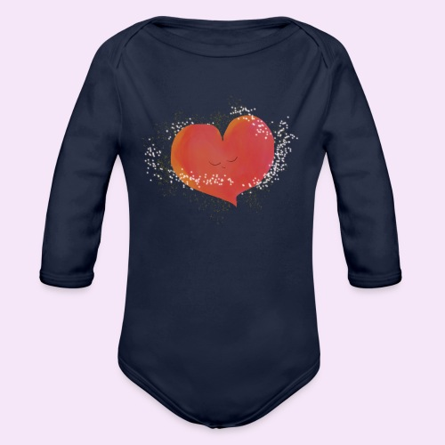 Blozend hartje kinder baby shirt - Baby bio-rompertje met lange mouwen