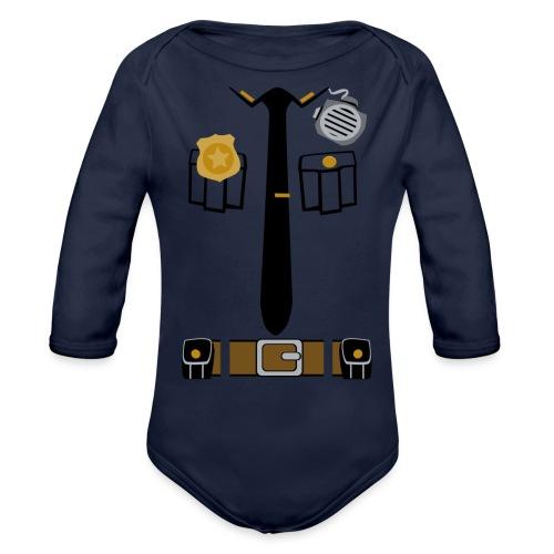 Police Patrol Costume - Organic Longsleeve Baby Bodysuit