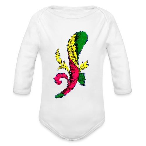 Asso bastoni - Body ecologico per neonato a manica lunga