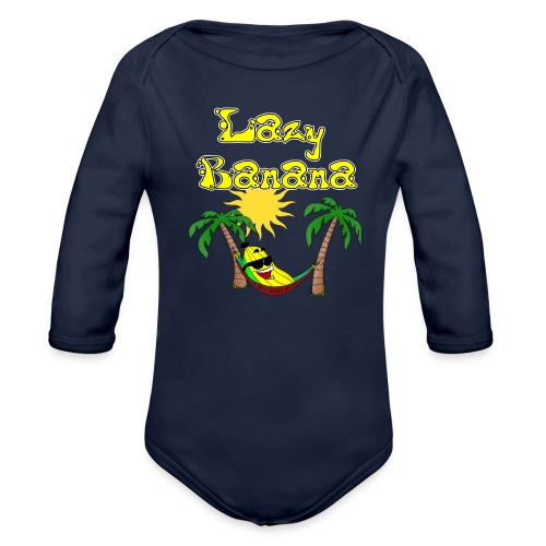 Who is as chilly as the Lazy Banana - Organic Longsleeve Baby Bodysuit