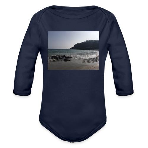 Guernsey Channel Island Beach - Organic Longsleeve Baby Bodysuit