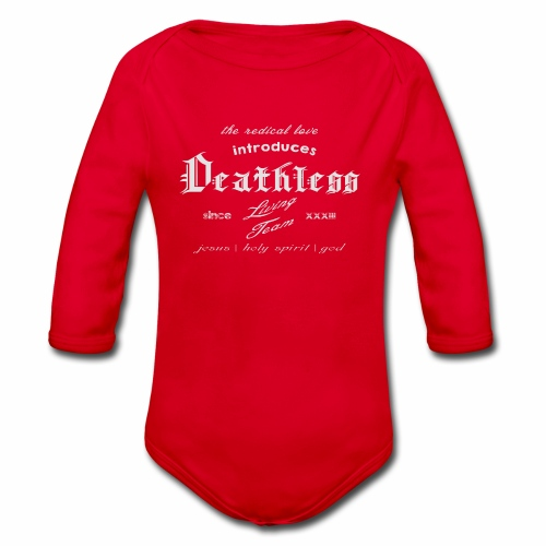 deathless living team grau - Baby Bio-Langarm-Body