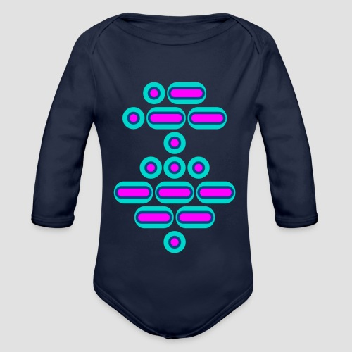 AWESOME (pink/blue) - Organic Longsleeve Baby Bodysuit