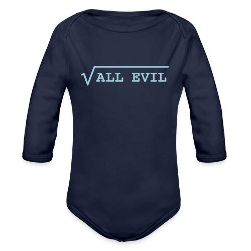 Root of all evil – lustige Geschenkidee - Baby Bio-Langarm-Body