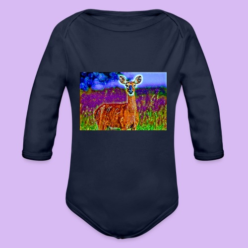 Cerbiatto con magici effetti - Body ecologico per neonato a manica lunga