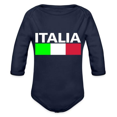 Italia Italy flag - Organic Longsleeve Baby Bodysuit
