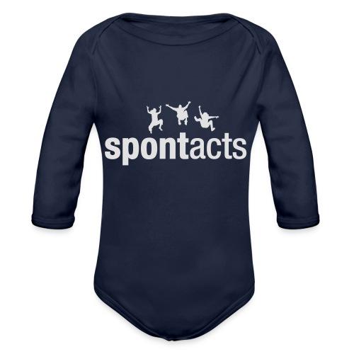 spontacts_Logo_weiss - Baby Bio-Langarm-Body