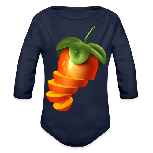 Sliced Sweaty Fruit - Organic Longsleeve Baby Bodysuit