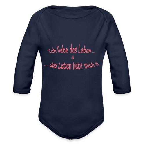 Ich-liebe-das-Leben-magenta.png - Baby Bio-Langarm-Body