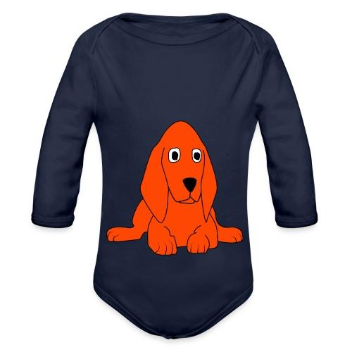 orange dog - Body ecologico per neonato a manica lunga