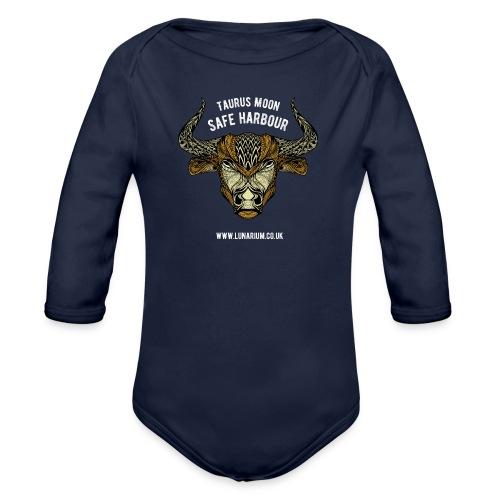 Taurus Moon Dark - Organic Longsleeve Baby Bodysuit