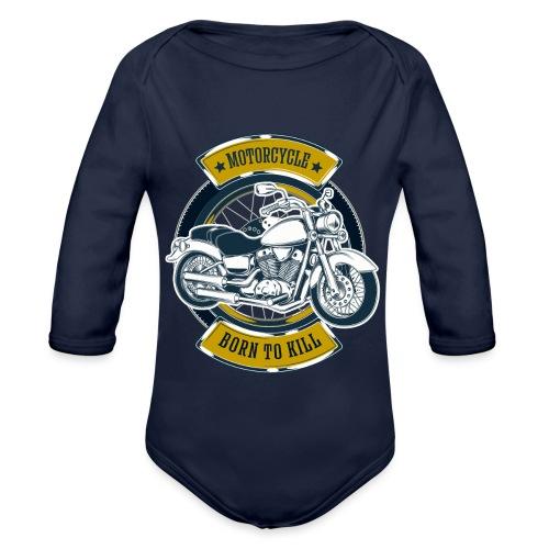 Motorcycle5 - Body orgánico de manga larga para bebé