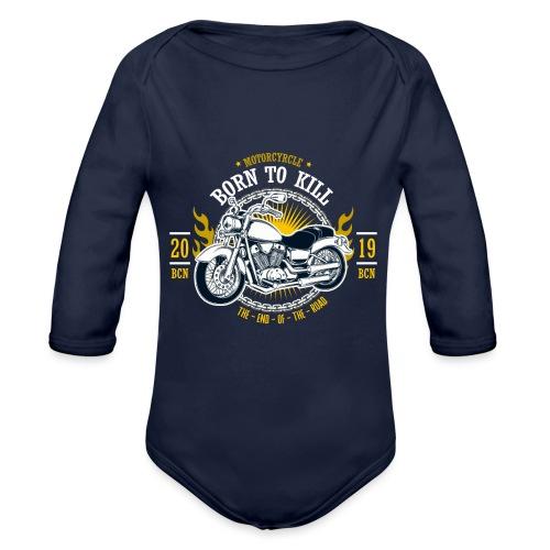 Motorcycle1 - Body orgánico de manga larga para bebé