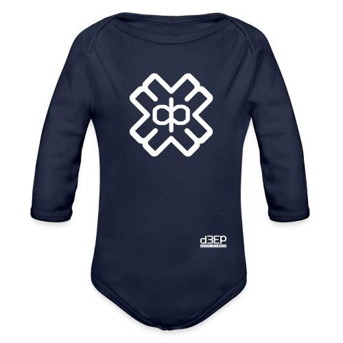 d3eplogowhite - Organic Longsleeve Baby Bodysuit