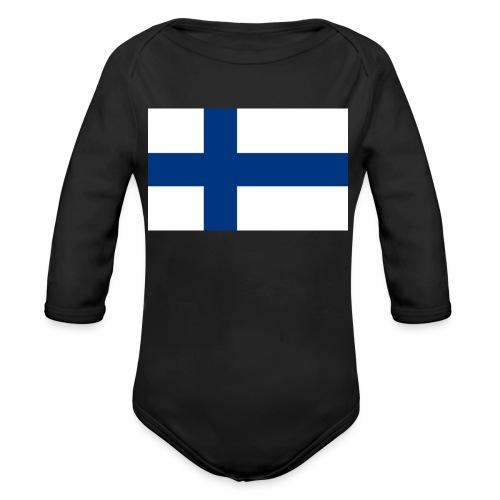 800pxflag of finlandsvg - Vauvan pitkähihainen luomu-body