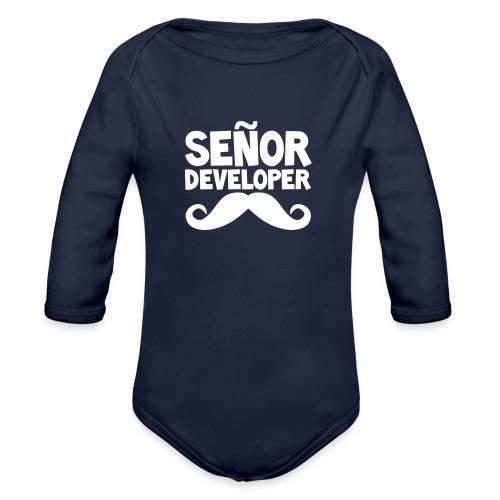 senor comic - Organic Longsleeve Baby Bodysuit