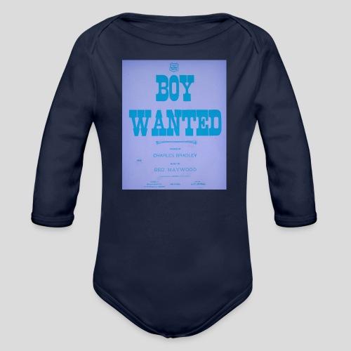 boy wanted1 4 jpg - Body Bébé bio manches longues