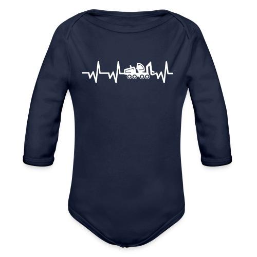 Forst | Herzschlag weiß - Baby Bio-Langarm-Body
