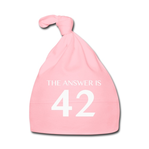 The Answer is 42 White - Baby Cap