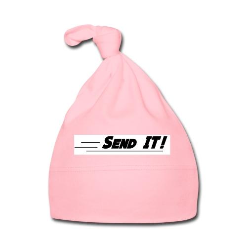 send it logo white - Baby Cap