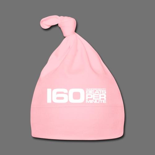 160 BPM (białe długie) - Czapeczka niemowlęca