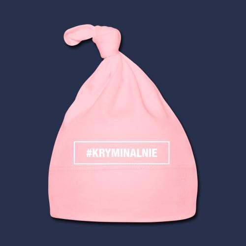 #KRYMINALNIE - logo białe - Czapeczka niemowlęca