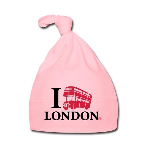 I love (Double-decker bus) London - Baby Cap
