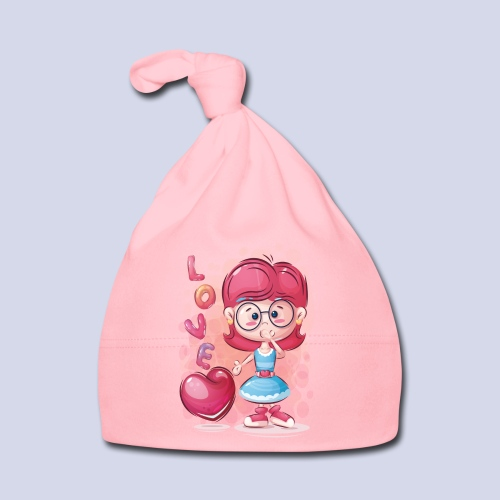 Funny and lovely girl cartoon design - Baby Cap