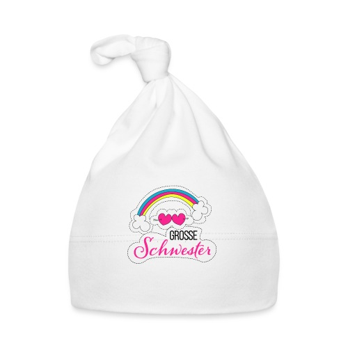 Große Schwester Regenbogen - Baby Mütze