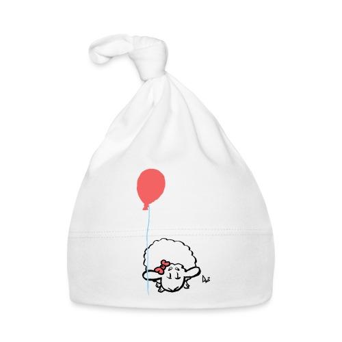 Baby Lamm mit Ballon (rosa) - Baby Mütze