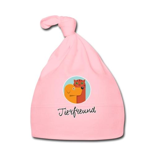 Tierfreund mit Schriftzug - Baby Mütze