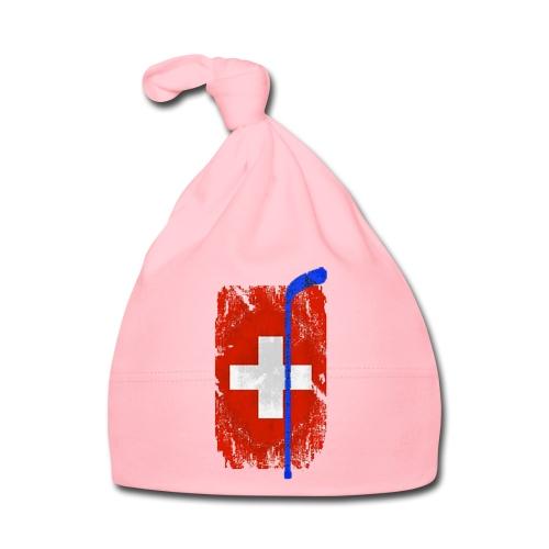 Schweizer Flagge Hockey - Baby Mütze