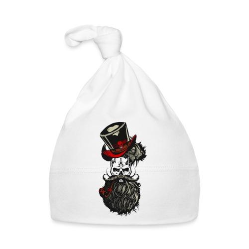 tete de mort barbu crane moustache barbe moustachu - Bonnet Bébé