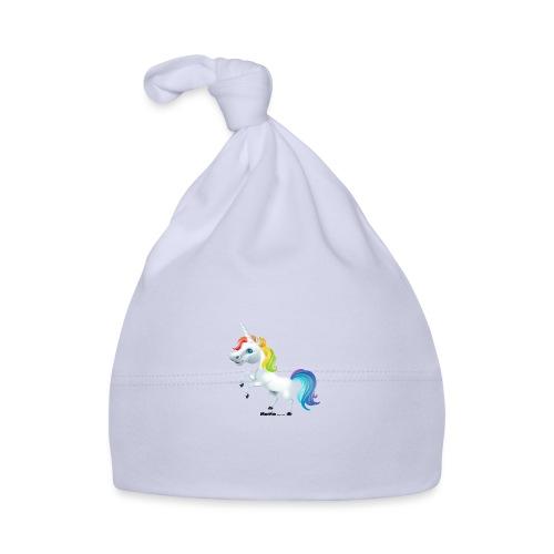 Regenbogen-Einhorn - Baby Mütze