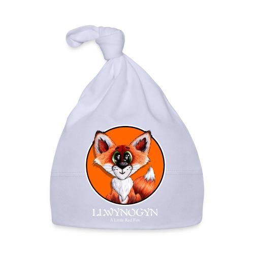 llwynogyn - a little red fox (white) - Baby Cap