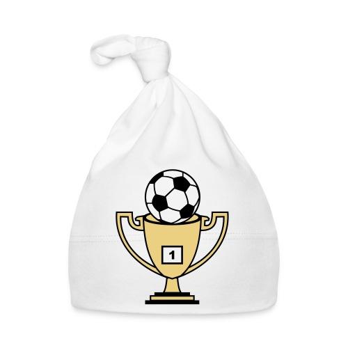 Pokal mit Fussball - Baby Mütze