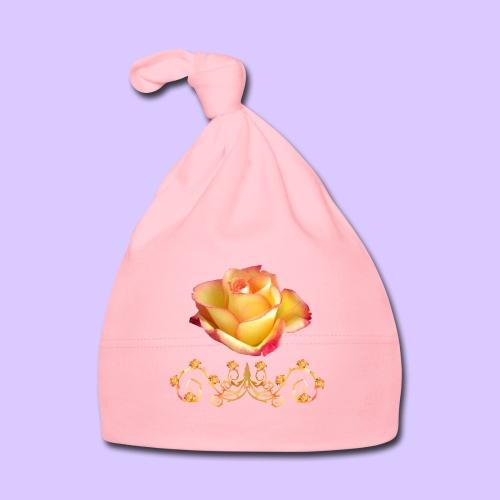 orange Rose, Ornament, Rosen, Blumen, Blüten, edel - Baby Mütze