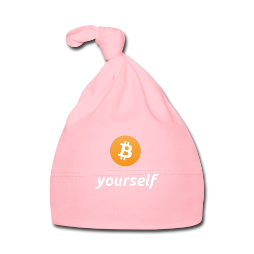 cryptocool b yourself white font -bitcoin logo - Muts voor baby's