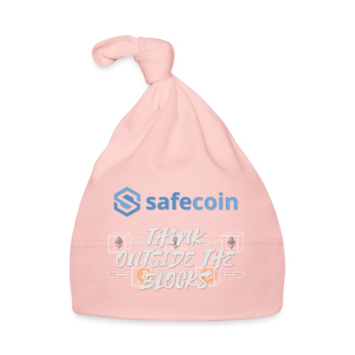 SafeCoin; Think Outside the Blocks (blue + white) - Baby Cap