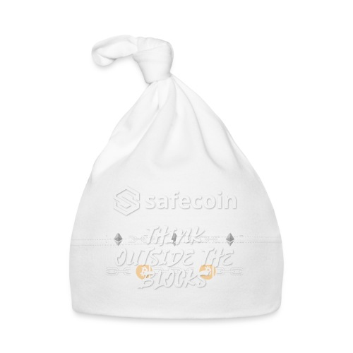 Safecoin Think Outside the Blocks (white) - Baby Cap