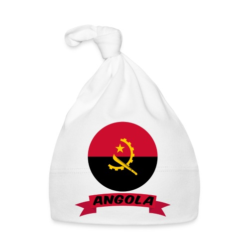 flag of Angola t shirt design ribbon banner - Cappellino neonato