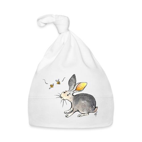 Der kleine Hase schaut sich um. - Baby Mütze
