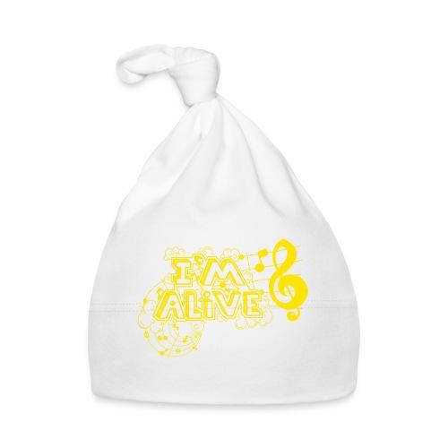 i m alive geel png - Muts voor baby's