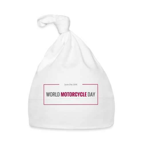 World Motorcycle Day 2016 Official T-Shirt ~ Grey - Baby Cap