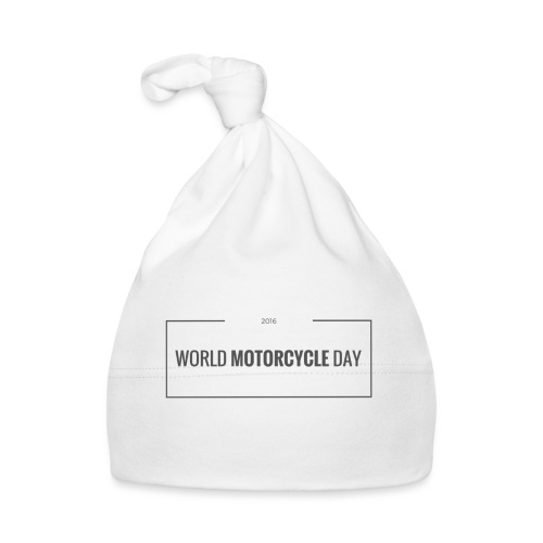 World Motorcycle Day 2016 Official T-Shirt ~ White - Baby Cap