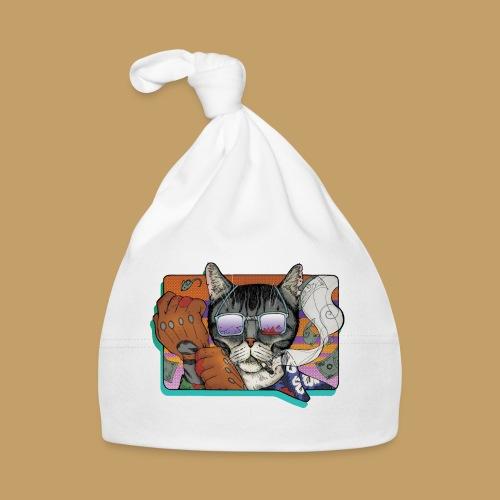 Crime Cat in Shades - Czapeczka niemowlęca