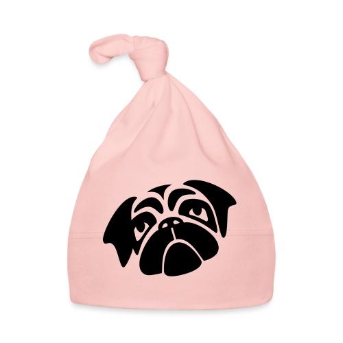 Mops mit schiefen Gesicht - Baby Mütze