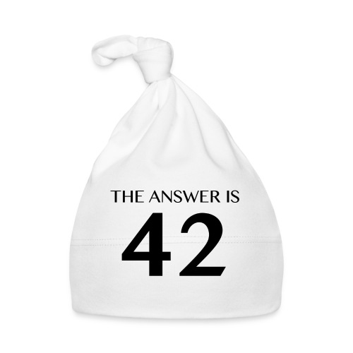 The Answer is 42 Black - Baby Cap